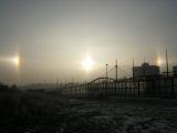 Vedlejší slunce fotografovaná na Barrandově (foto P. Gaňa)