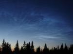 Noční svítící oblaky na Churáňově 13.6.2006 (foto R. Szpuk)
