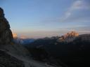 24. srpen 2007, soumrakové ozáření vrcholů