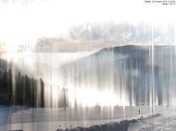 Dráha spodního slunce - Krkonoše - Portášky, 8:53-12:45 z 26.12.2010 - keogram