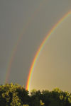 primární a sekundární duhový oblouk, foto Milan Černý